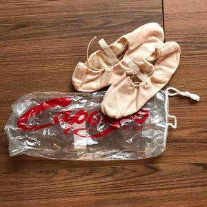 Capezio ballet slippers in nude